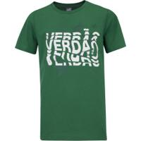 Camiseta Puma Sep Verdao Graphic Tee Inf - Verde/Branco