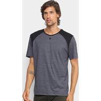 Camiseta Cavalera Recorte Mescla Masculina - Masculino-Mescla Escuro