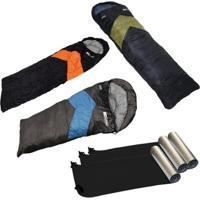 Kit Camping Com 3 Sacos De Dormir Viper + 3 Isolantes Térmicos Nautika - Unissex