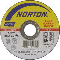 Disco De Corte Para Alumínio 115X22,2X2Mm Bna22 Norton