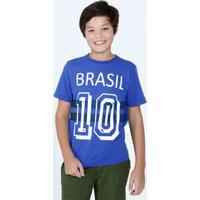 Camiseta Juvenil Brasil 10 Manga Curta Marisa