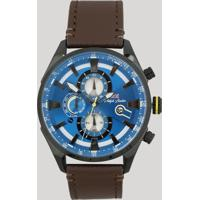 Relógio Cronógrafo Philiph London Masculino - Pl80075612M Marrom - Único