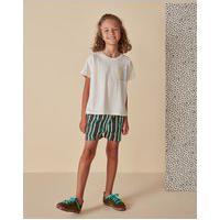 Amaro Feminino Camiseta Infantil Oversized Estampa Planet, Off-White