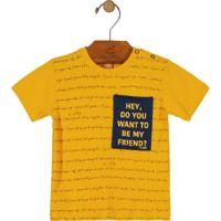 Camiseta Com Estampa Amarelo