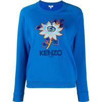 Kenzo Passion Flower Sweatshirt - Azul