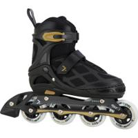 Patins Oxer Pixel First Wheels - In Line - Fitness - Ajustável - Preto/Ouro
