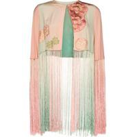 One Vintage Blusa Cropped Com Estampa Floral - Rosa
