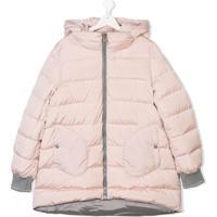 Herno Kids Hooded Padded Coat - Rosa