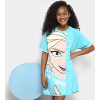 Camisola Infantil Lupo Estampada Frozen Elsa Feminina - Feminino