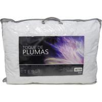 Travesseiro Tessi Toque De Pluma - Homewear Branco
