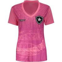 Camisa Topper Botafogo 2018 Outubro Rosa Feminina - Feminino