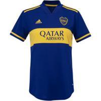 Camisa Boca Juniors I 20/21 Adidas - Feminina - Azul Escuro