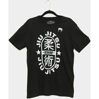 Camiseta Venum Jiu-Jitsu Star Masculina - Masculino-Preto