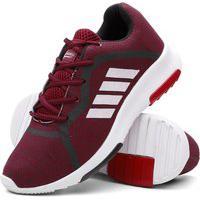 Tênis Masculino Caminhada Confortável Super Leve Vermelho