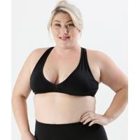 Top Feminino Plus Size Tule Fitness Marisa