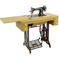 Máquina De Costura Eletrônica Elgin Com Gabinete E Pedal B-3