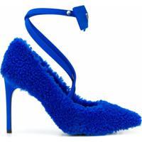 Off-White Sapato Com Amarração - Azul