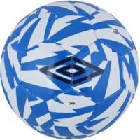 Bola De Futebol De Campo Umbro Copa Supporter - Branco Azul 5e7741cf006fa