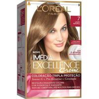 Coloração Imédia Excellence L'Oréal Paris 7 Louro Natural - Unissex-Incolor