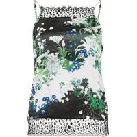 Givenchy Blusa Com Estampa Floral E Detalhe De Renda - Preto