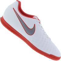 Chuteira Futsal Nike Magista Obra X 2 Club Ic - Adulto - Branco/Cinza