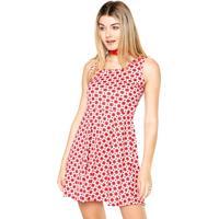 Vestido Luli Mulher Curto Estampado Vermelho