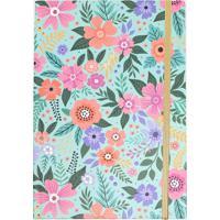 Caderno Com Elástico Estampa Floral