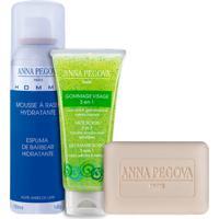 Kit Anna Pegova - Sabonete Dermatológico Pain Nettoyant 75G Esfoliante Facial Gommage Visage 40Ml Espuma De Barbear Pegoff 150Ml