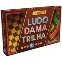 Jogo De Tabuleiro 3 Jogos Ludo, Dama E Trilha Pais E Filhos