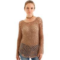 Blusa Crochet Rendado Bege
