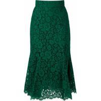 Dolce & Gabbana Saia Midi De Renda - Verde