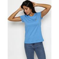 Camiseta Com Recortes - Azul & Dourada- Club Polo Coclub Polo Collection