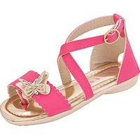 Sandália Infantil Plis Calçados Abraço Feminina - Feminino-Pink