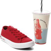 Tênis Coca-Cola Basket Blend Canvas + Copo Coca-Cola 700Ml - Unissex