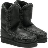 Mou Kids Stitched Slip-On Boots - Preto
