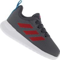 Tênis Para Bebê Adidas Lite Racer Clean I Td - Infantil - Cinza Esc/Vermelho
