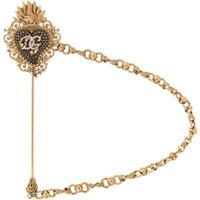 Dolce & Gabbana Broche Com Logo - Dourado