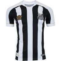 Camisa Do Santos Ii 2018 Umbro - Jogador - Branco Preto 59364686e0567