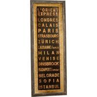 Quadro Decorativo Vintage De Parede L'Oriente Express