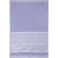 Toalha De Lavabo Com Bordado- Azul- 33X50Cm- Sansantista