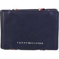Carteira Couro Tommy Hilfiger Porta Cartão Flip - Masculino-Azul
