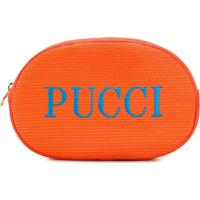 Emilio Pucci Necessaire Com Logo - Laranja