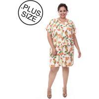 Vestido Plus Size Loulic Paola Branco