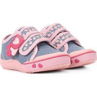 Tênis Infantil Klin Toy Dois Velcros Feminino - Feminino-Jeans