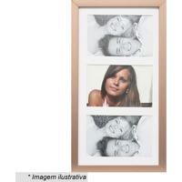 Painel Multifotos Insta - Bronze & Branco - 38X21X1,Kapos