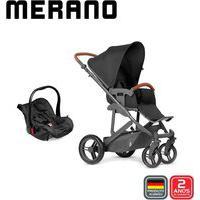 Carrinho De Bebê Abc Design Travel System Merano Woven Black (Com Shopping Bag)
