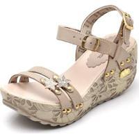 078c1bcce6 ... Sandalia Top Franca Shoes Betina Beker Plataforma Anabela Feminina -  Feminino-Bege