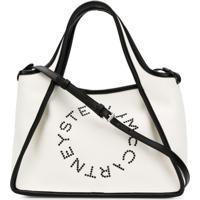 877578f6b ... Stella Mccartney Bolsa Tote Com Logo - Branco