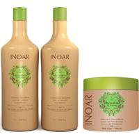 Kit Inoar Macadamia Oil Premium Shampoo Condicionador 1 L Mascara 500Ml