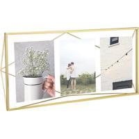 Porta-Retrato Prisma Multi Fotos Dourado